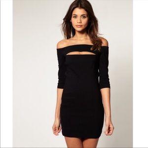 ASOS Black Mini Cocktail Dress Cut Out Size 6